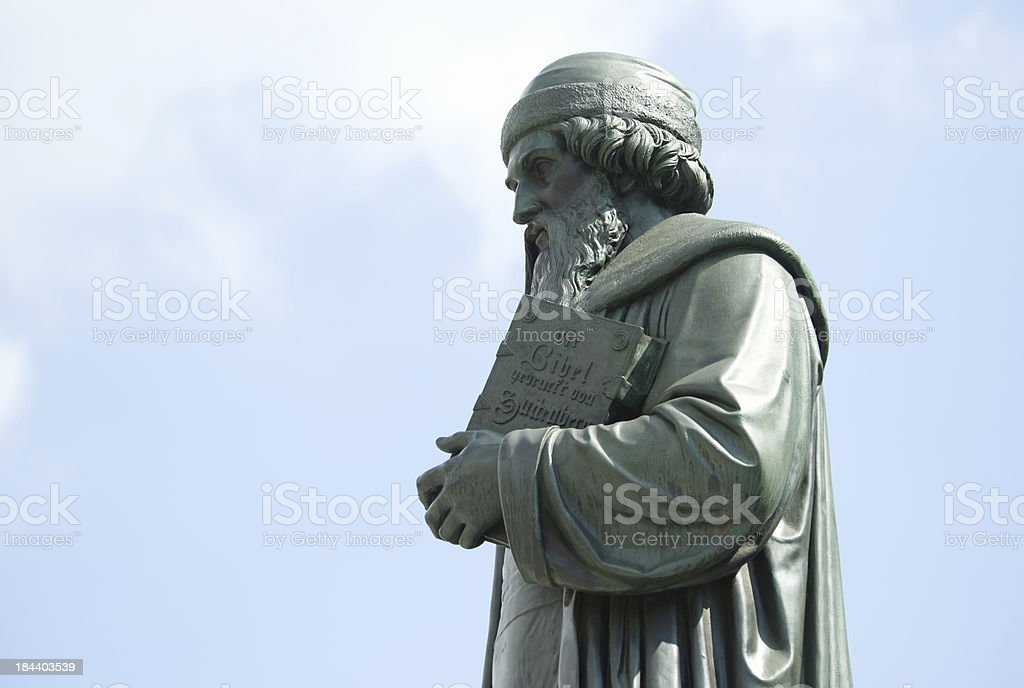 Monument of Gutenberg at Mainz, Germany stock photo