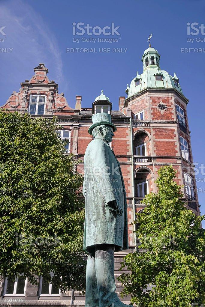 Monument of Hans Christian Andersen in Copenhagen stock photo
