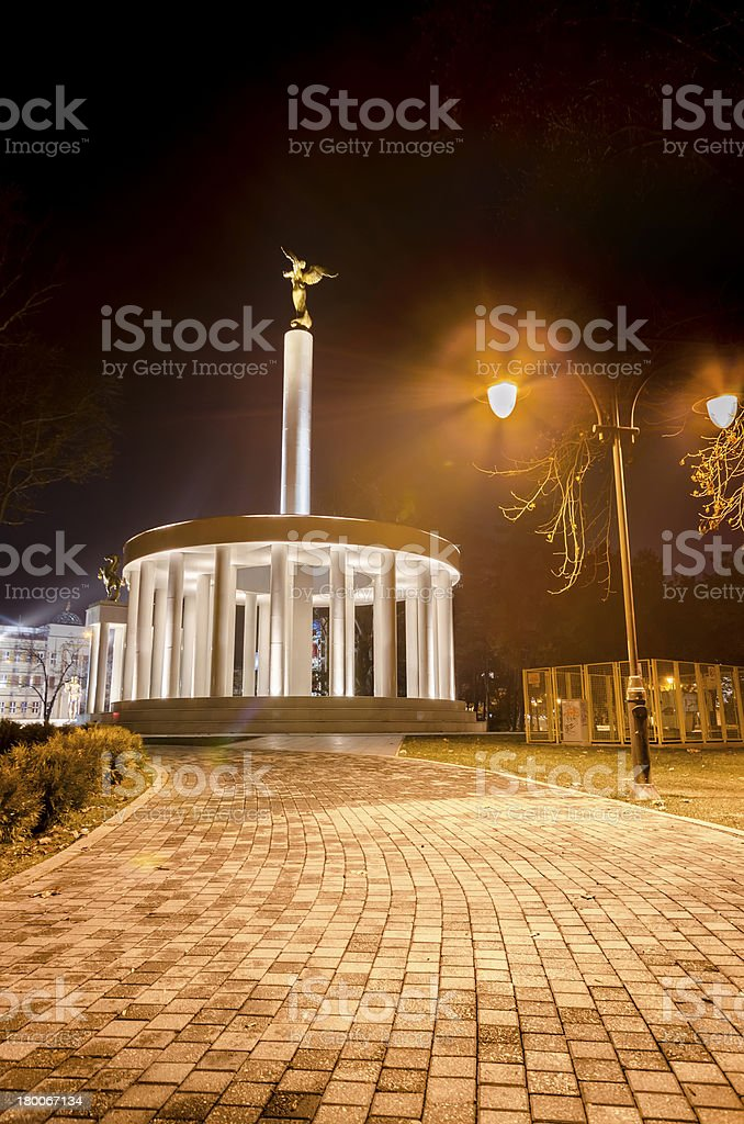 monument of heroes skopje macedonia royalty-free stock photo