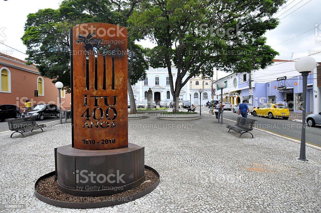 Monument of Itu, Brazil royalty-free stock photo