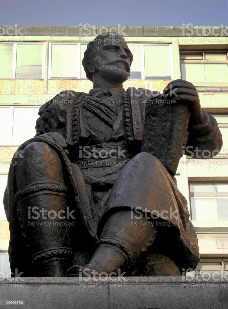 Monument of Petar II Petrovic Njegos stock photo