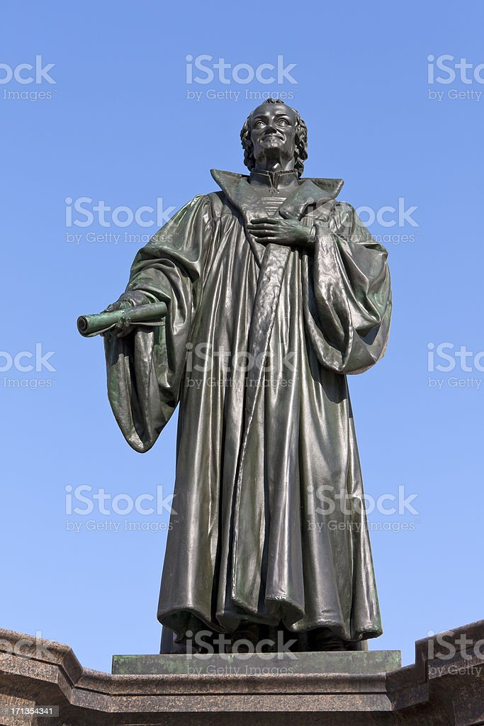Monument of Philipp Melanchthon stock photo