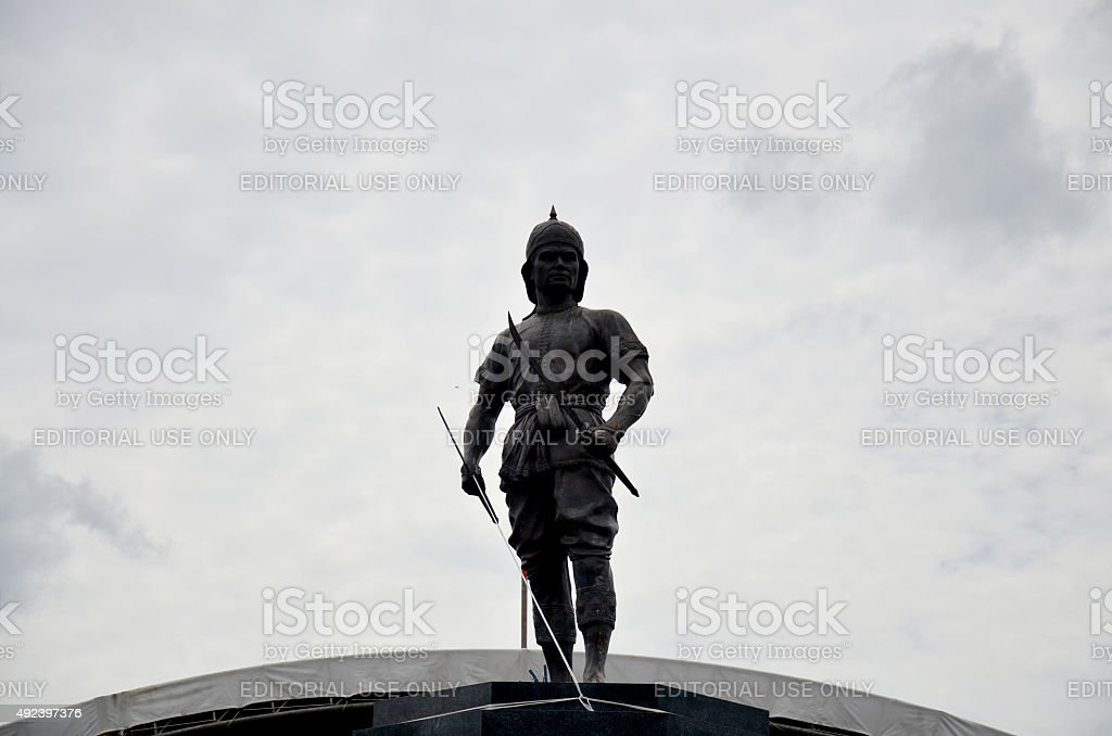 Monument of Phraya Phichai Dap Hak stock photo