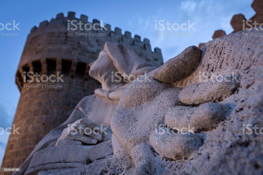 Monument of Saint Teresa of Avila, Avila, Spain stock photo
