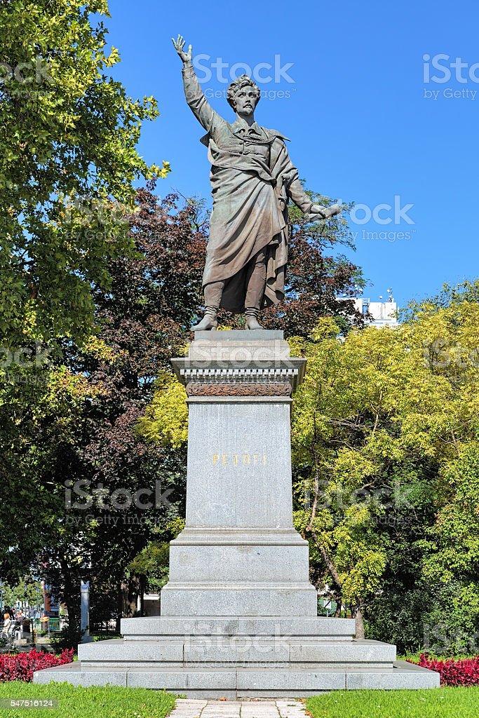 Monument of Sandor Petofi in Budapest, Hungary stock photo
