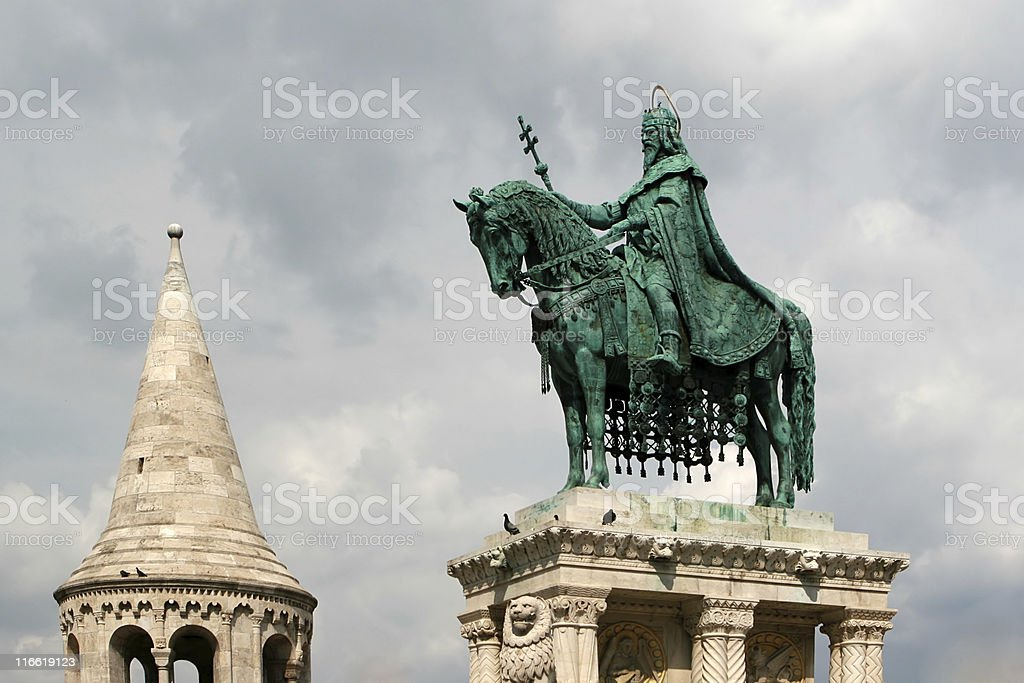 Monument of St. Matyas royalty-free stock photo