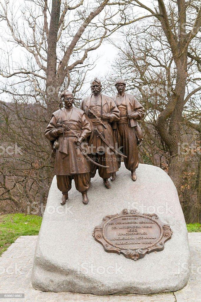 Monument of the Cossacks stock photo