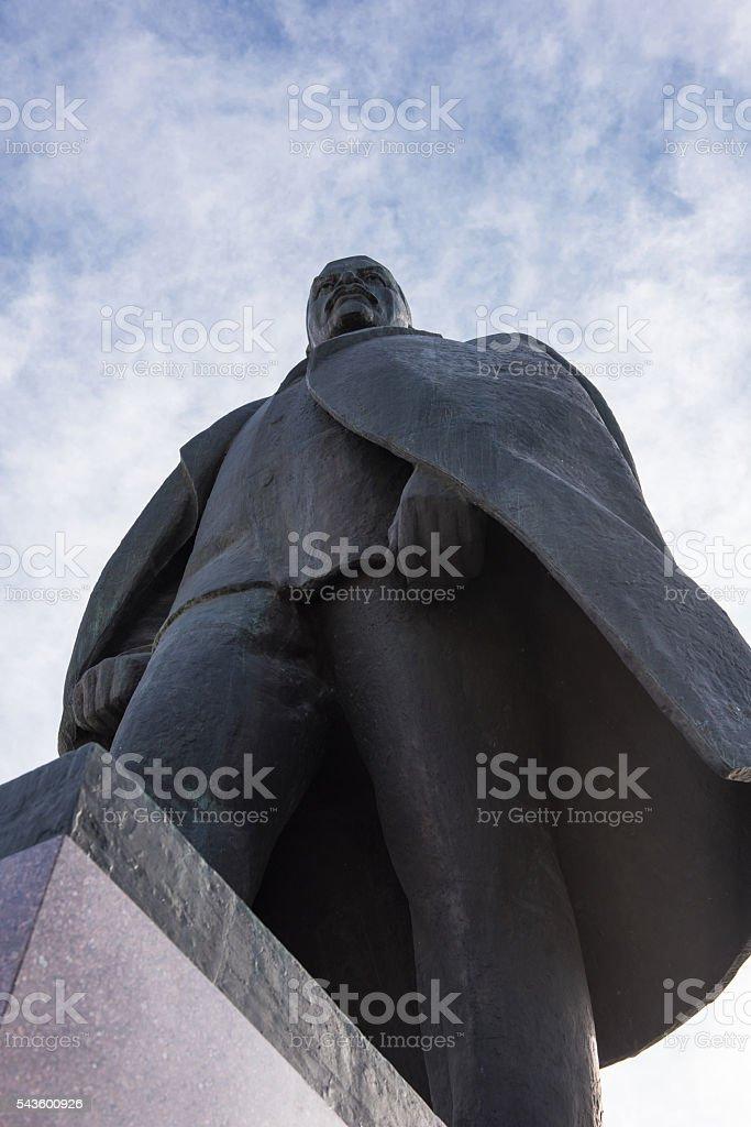 Monument of the Lenin stock photo