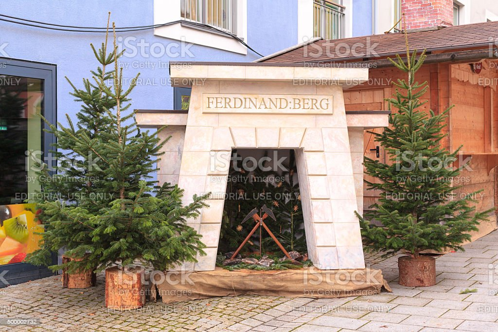 Monument of the oldest active salt mine in Germany stock photo