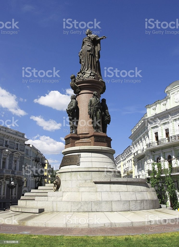 monument of the russian empress stock photo