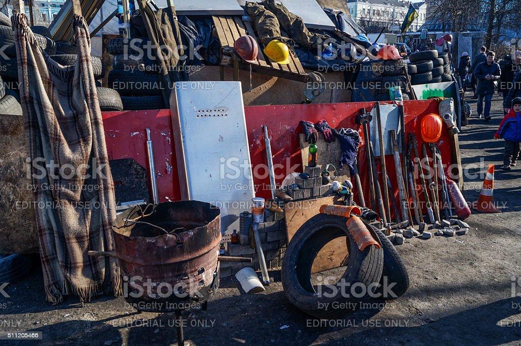 Monument of Ukrainian Patriots at Maidan Nezalezhnosti stock photo