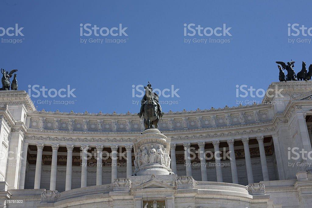 Monument of Vittorio Emanuele II stock photo
