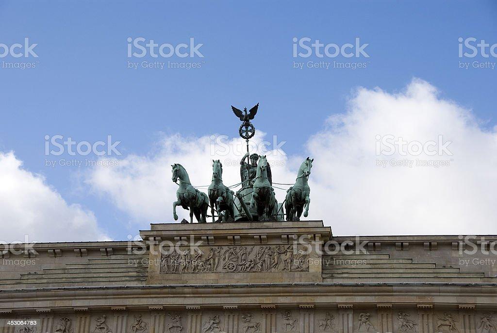 monument on brandenburger tor stock photo