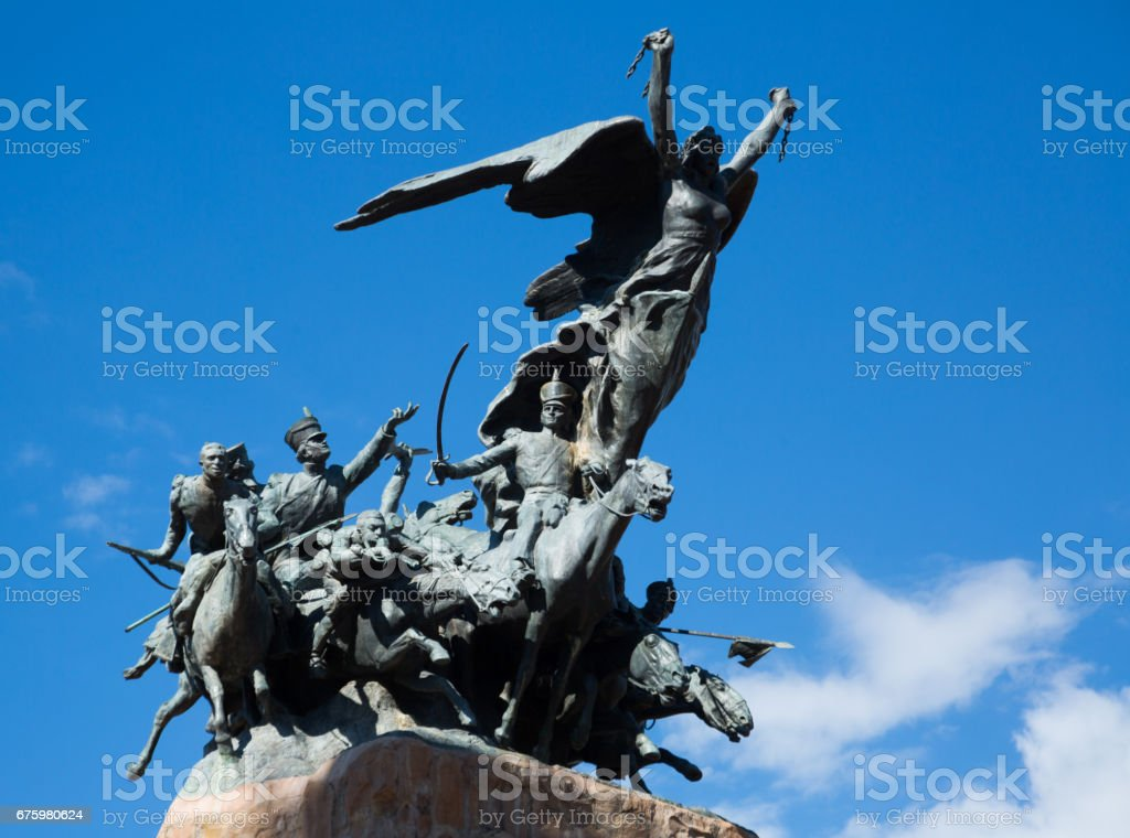 Monument on Cerro de la Gloria, Mendoza stock photo