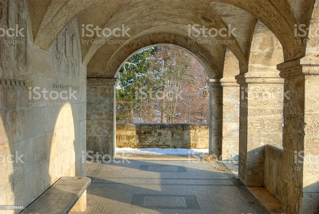Monument Picture old wall royalty-free stock photo