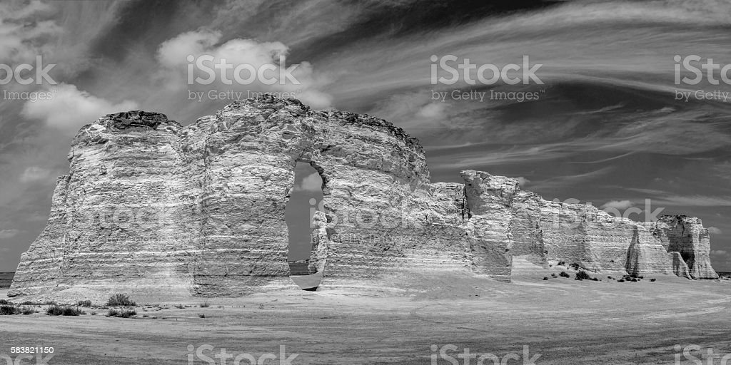 Monument Rocks National Natural Landmark stock photo