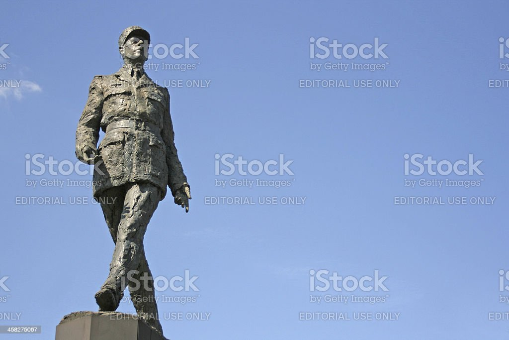 Monument sculpture of french president Charles de Gaulle, PARIS royalty-free stock photo