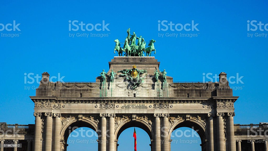 Monument The Arches Of Cinquantenaire In Brussel stock photo