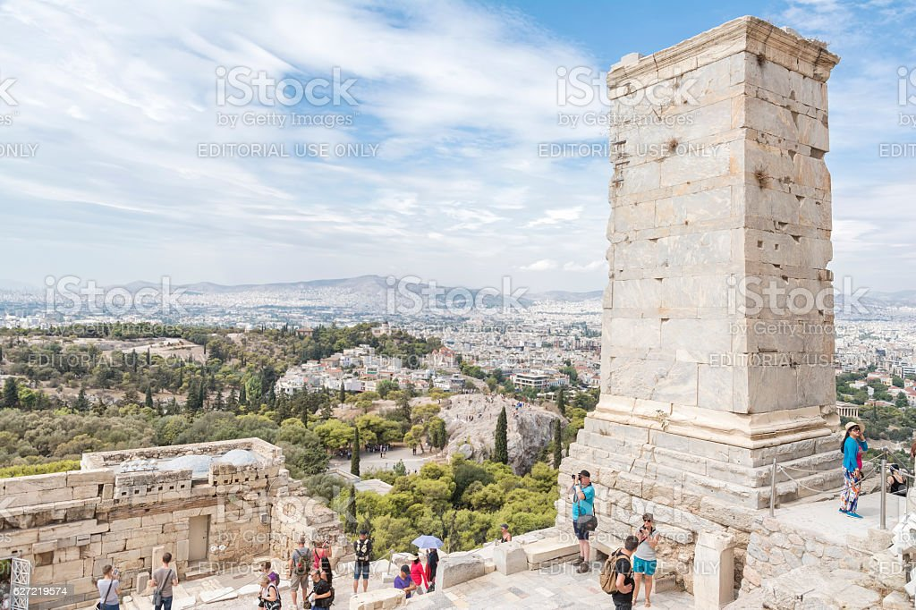Monument to Agrippa, Athens, Greece stock photo