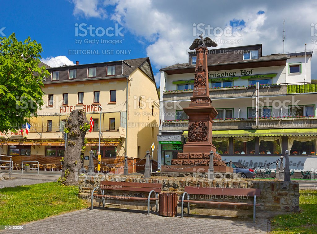 Monument to Battle of Sedan in Boppard, Germany stock photo