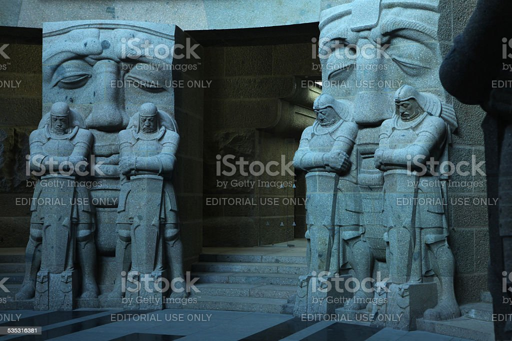 Monument to Battle of the Nations in Leipzig, Germany. stock photo