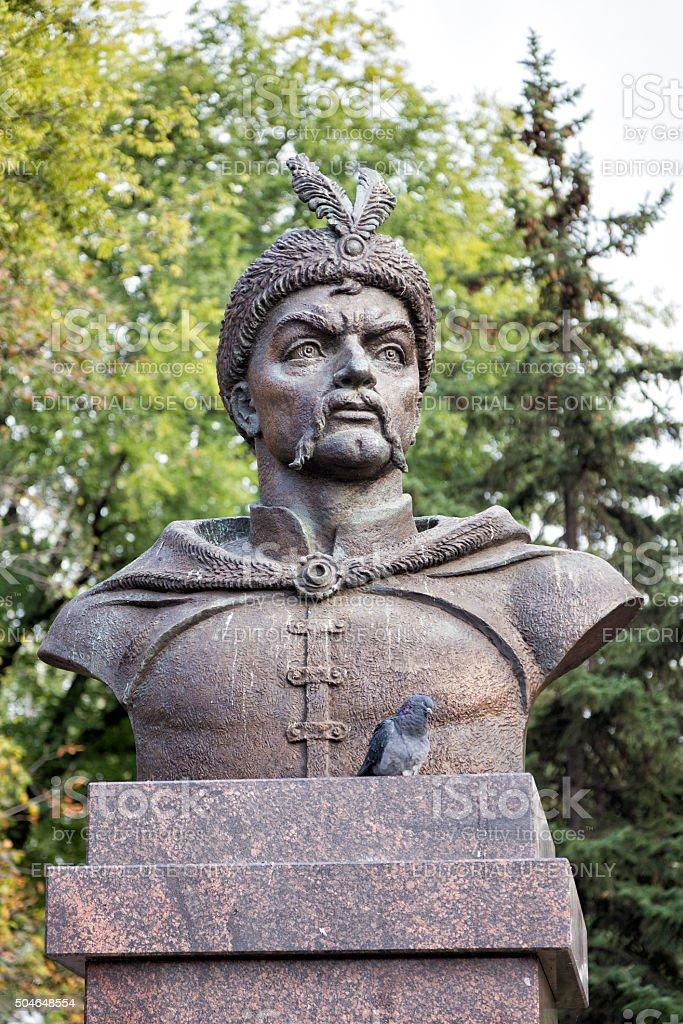 Monument to Bogdan Khmelnitsky. Belgorod. Russia stock photo