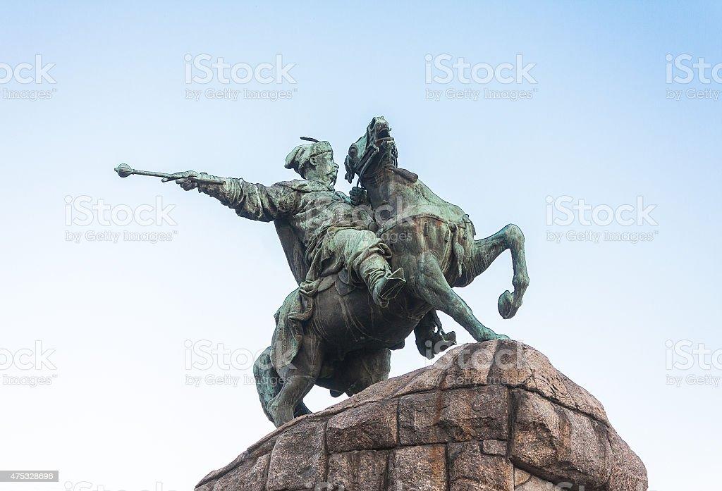 Monument to Bogdan Khmelnitsky in Kiev, Ukraine stock photo