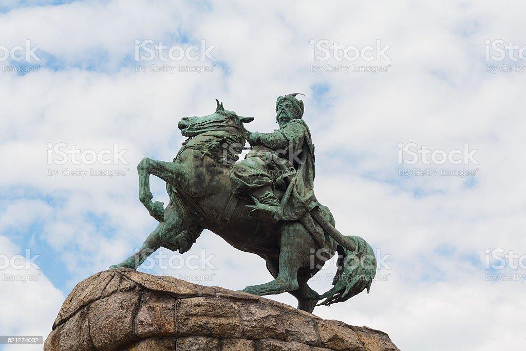 Monument to Bogdan Khmelnitsky on Sofia square. Kiev, Ukraine stock photo