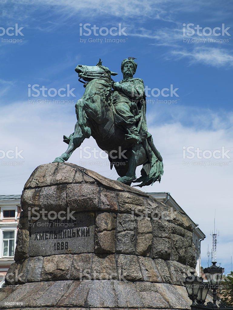 monument to Bogdan Khmelnitsky royalty-free stock photo