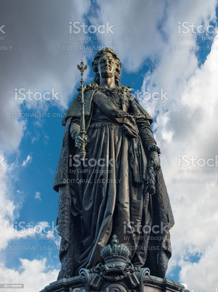 Monument to Catherine the Great, Saint Petersburg, Russia stock photo