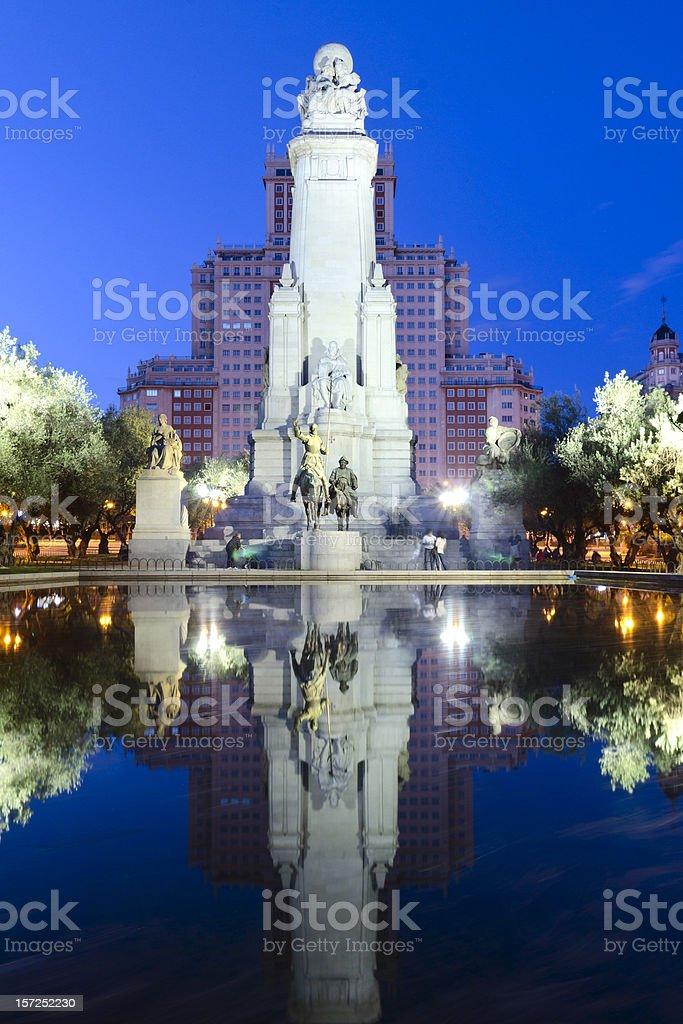 Monument to Cervantes royalty-free stock photo