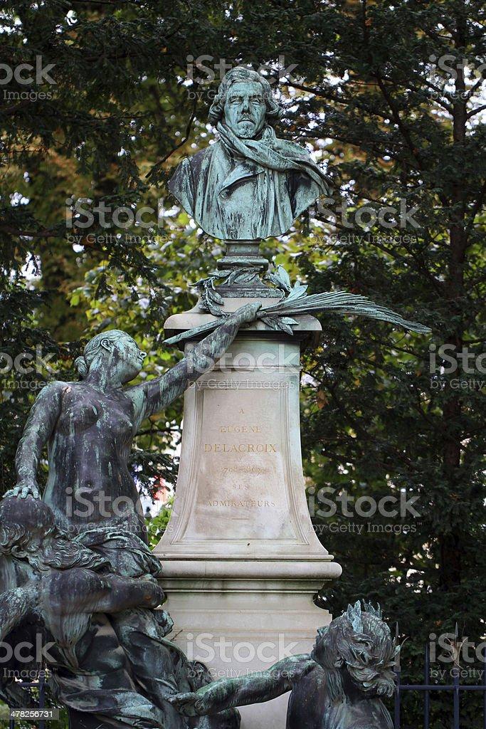 Monument to Delacroix stock photo