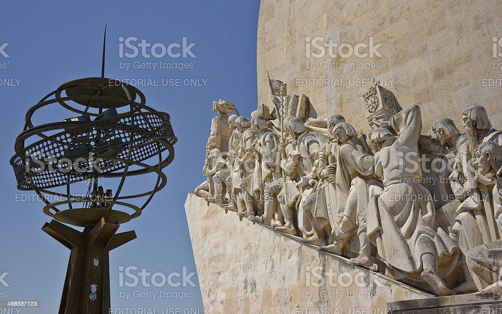 Monument to Discoveries (Padrão dos Descobrimentos) in Belém, Portugal royalty-free stock photo