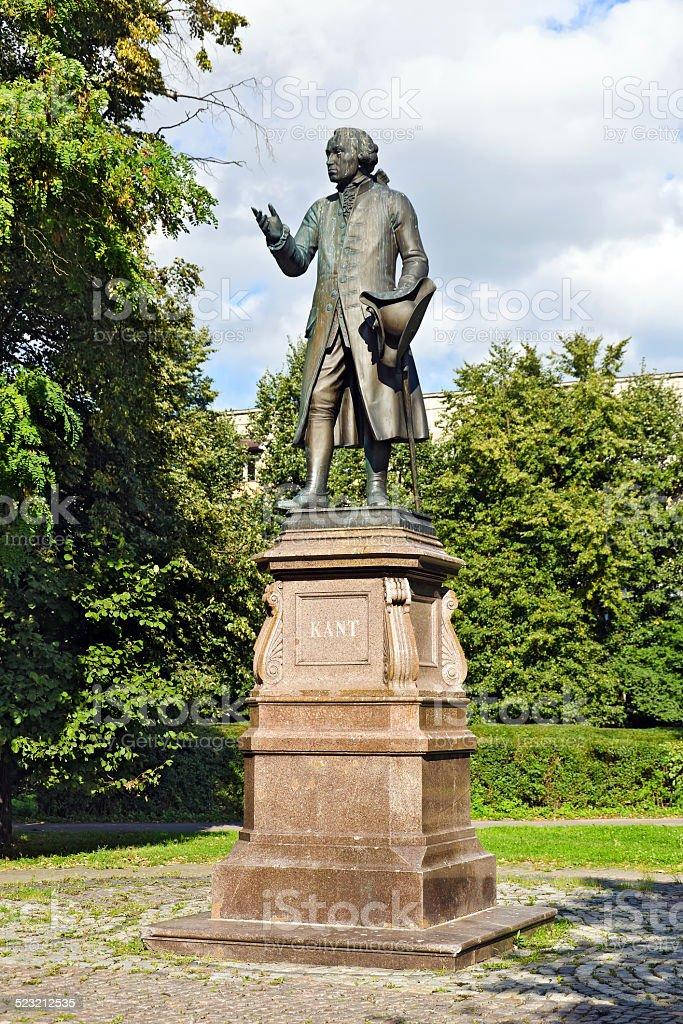 Monument to Emmanuel Kant. Kaliningrad (Koenigsberg before 1946) stock photo