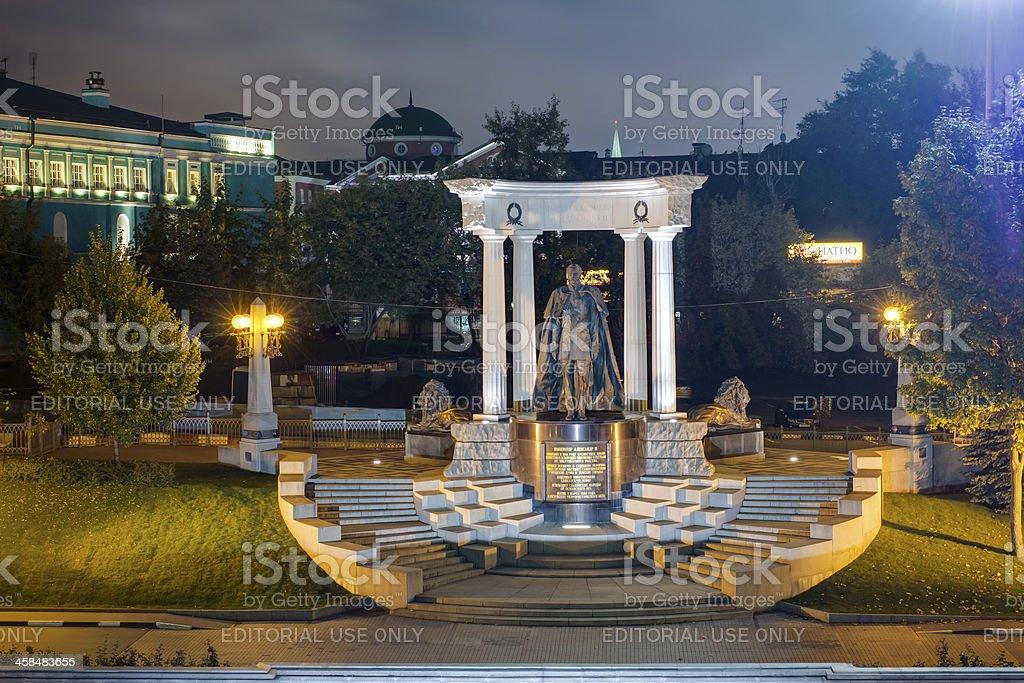 Monument to Emperor Alexander II stock photo