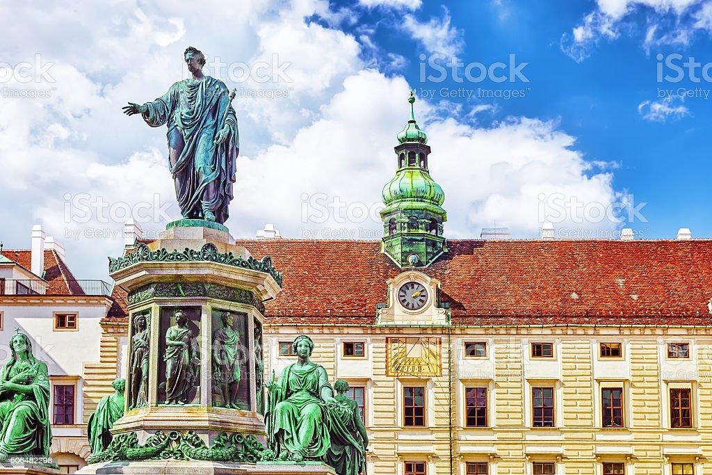 Monument to Emperor Franz I of Austria stock photo
