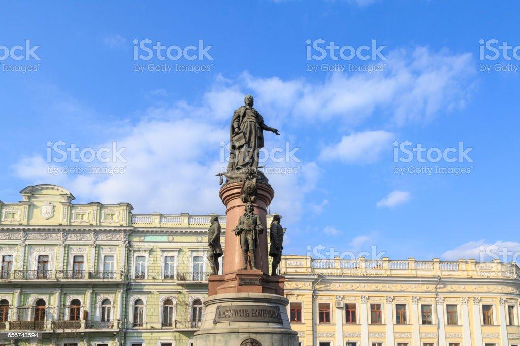 Monument to Empress Catherine the Great in Odessa, Ukraine stock photo