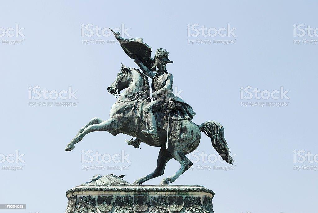 Monument to Erzherzog Karl (Archduke Charles) in Vienna stock photo