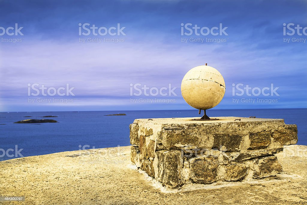 Monument to Explorers of Antarctica royalty-free stock photo