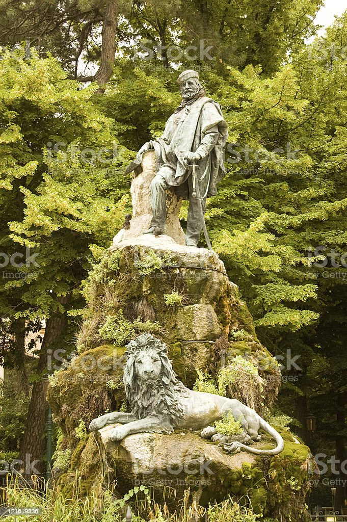 Monument to Giuseppe Garibaldi, Venice stock photo