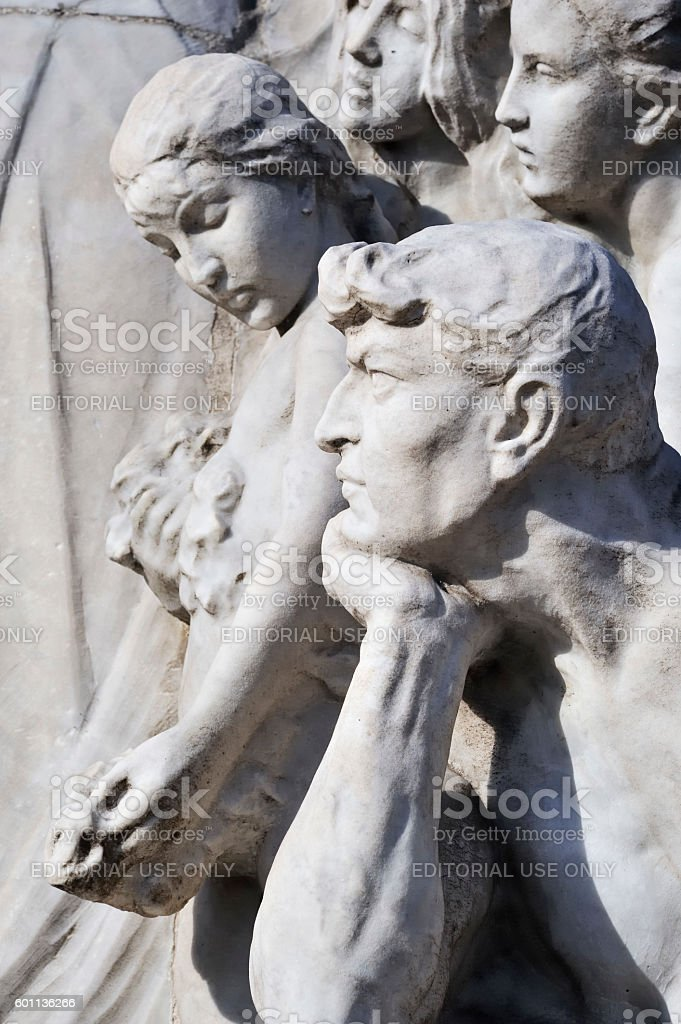 Monument to Giuseppe Mazzini stock photo