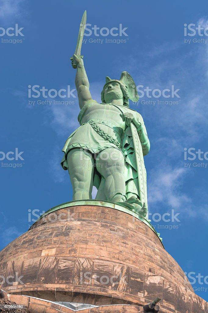 Monument to Hermann the Cherusci stock photo