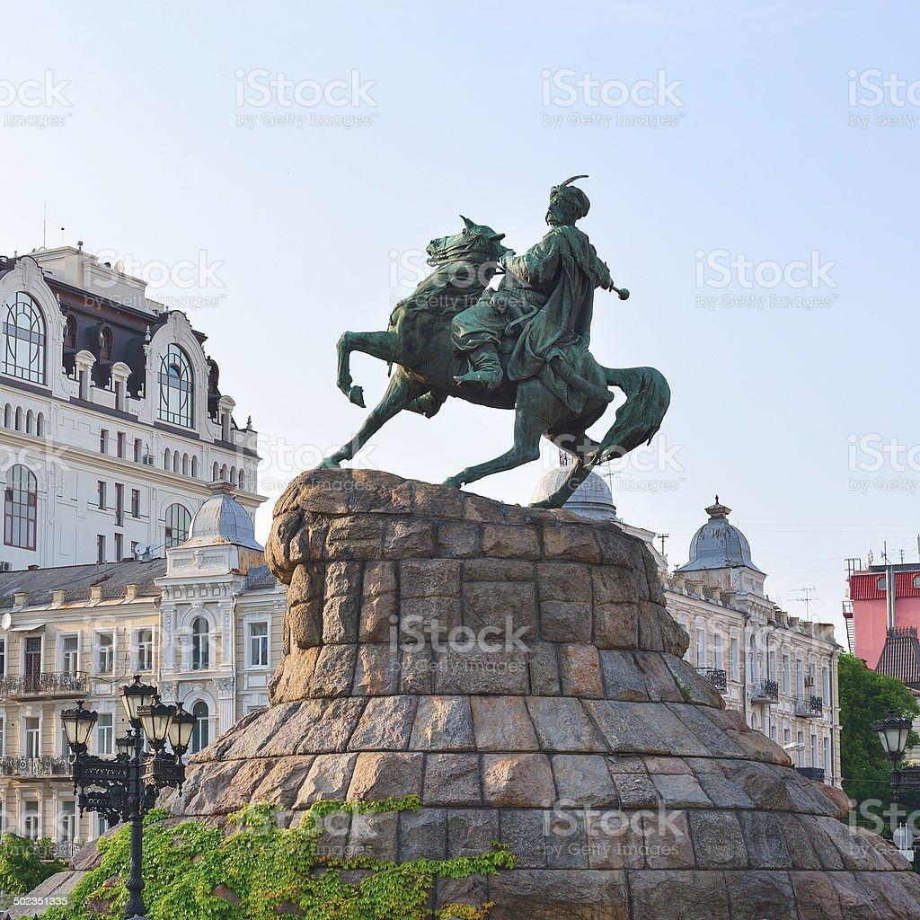 Monument to hetman of Ukraine Bogdan Khmelnitsky royalty-free stock photo