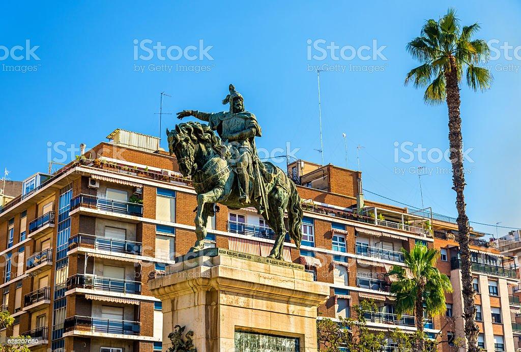 Monument to Jaime el Conquistador in Valencia, Spain stock photo