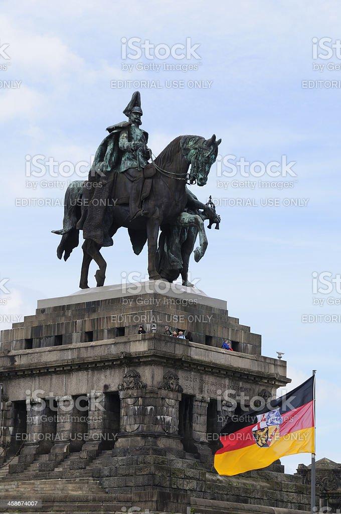 Monument to Kaiser Wilhelm I at Koblenz, Germany royalty-free stock photo