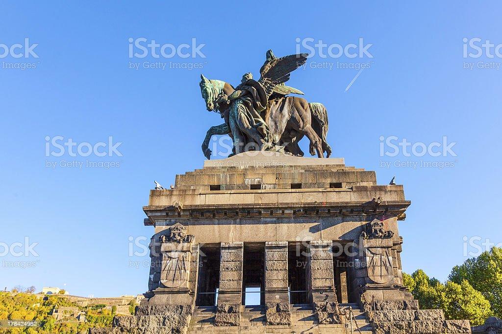 Monument to Kaiser Wilhelm I (Emperor William) on Deutsches Ecke stock photo