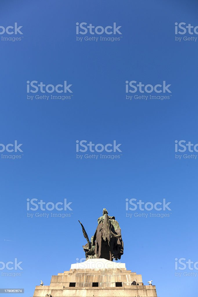 Monument to Kaiser Wilhelm I (Emperor William) on Deutsches Ecke royalty-free stock photo