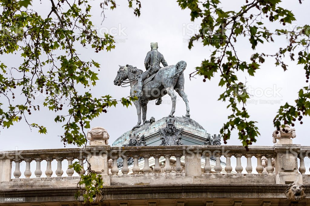 Monument to King Alfonso XII stock photo