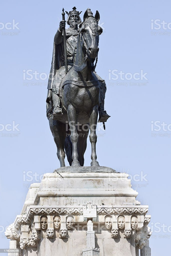 Monument to King Saint Ferdinand royalty-free stock photo