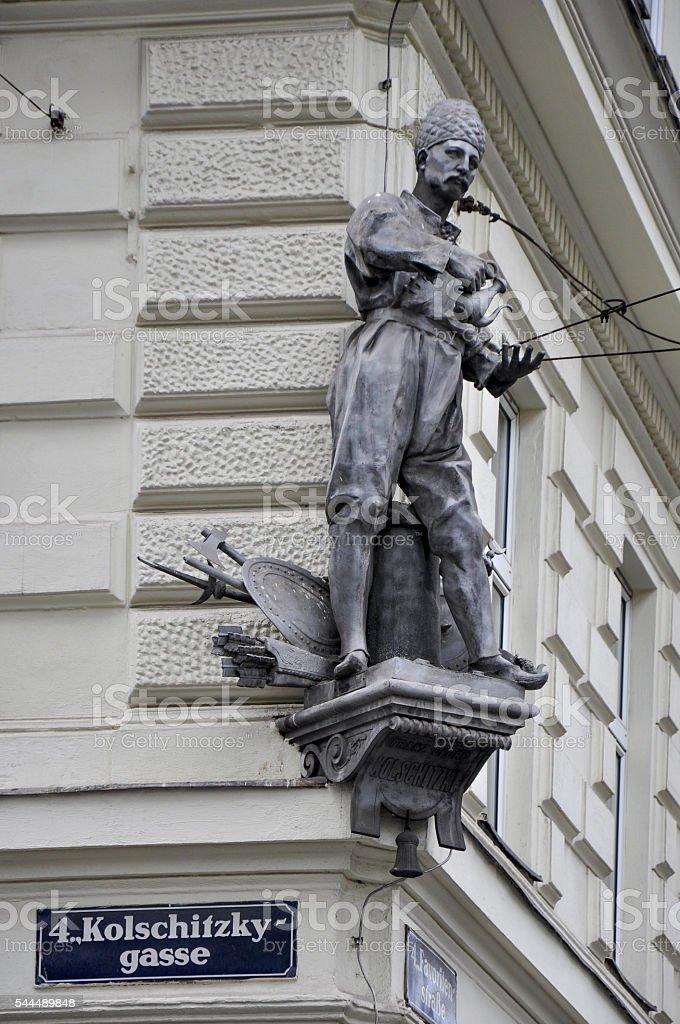 Monument to Kulczycki in Vienna, Austria stock photo